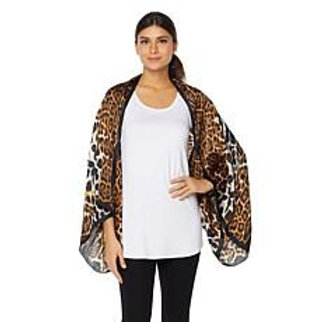 Silk Safari Leopard Print Wrap