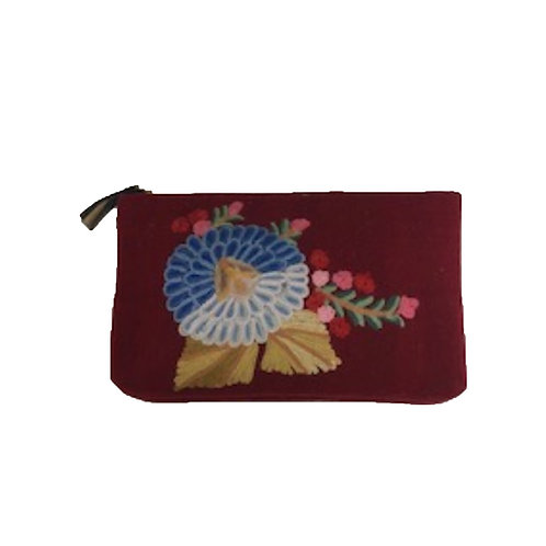 Crewel Embroidered Pouch