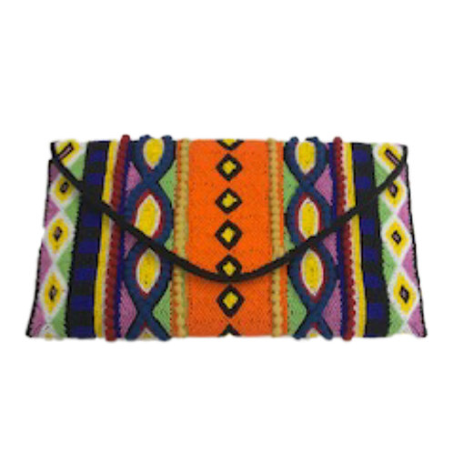 Beaded Color Clutch