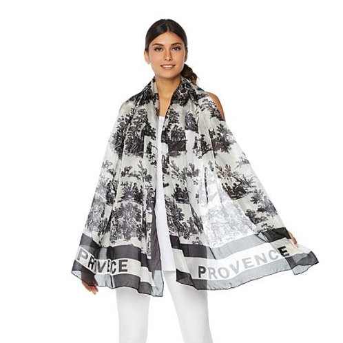 Provincial Toile-Print Scarf