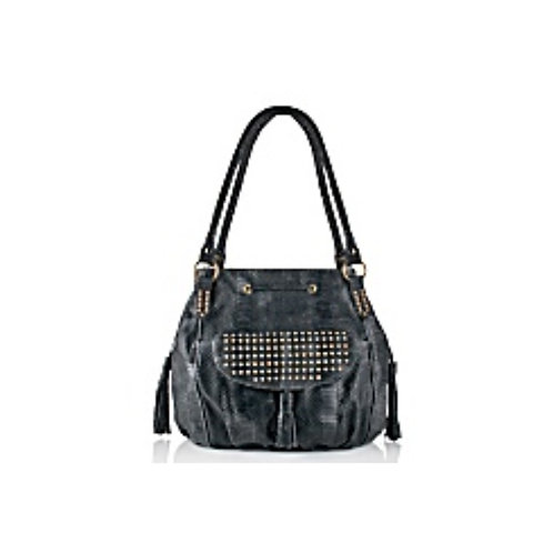 Studded Drawstring Bag with Tassel