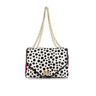 Polka Dot Haircalf Satchel