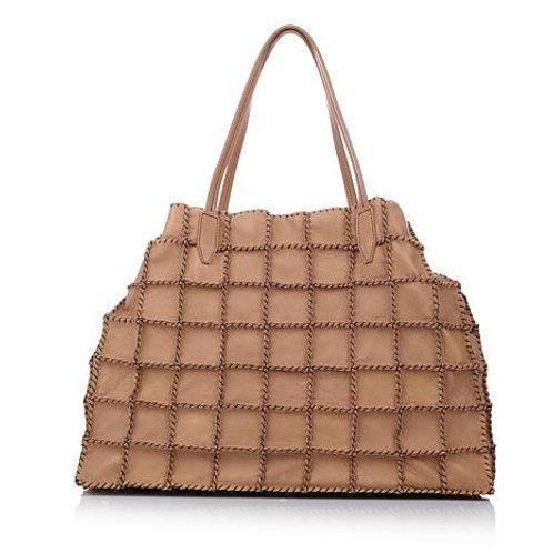 Artisan Leather Patchwork Shopper
