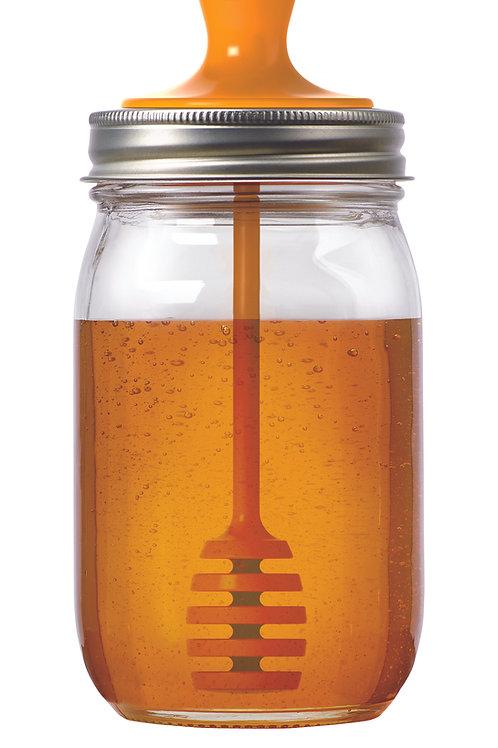 Honey Dipper Lid - Regular Mouth