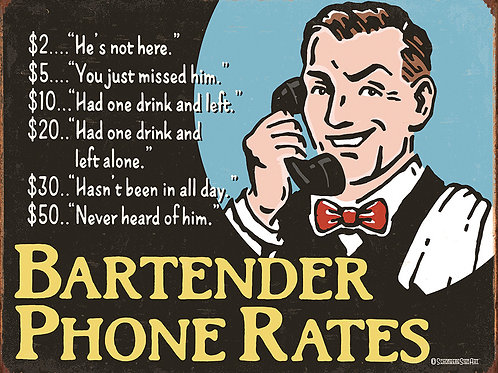 Bartender Phone Rates