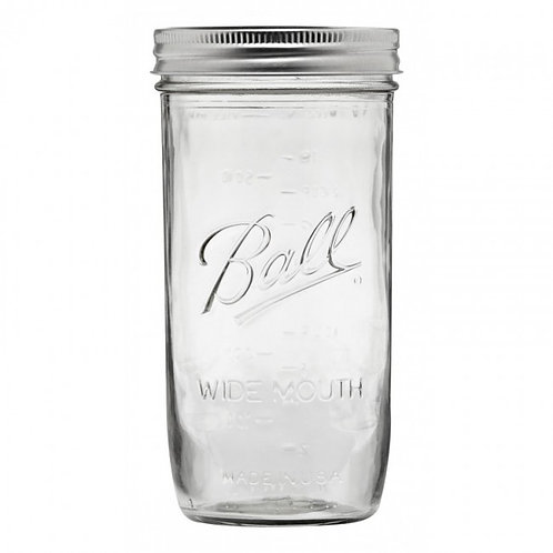 Ball Pint and Half Wide Mouth Mason Jars - 9 Piece Box