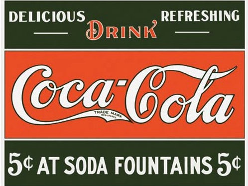 Coke-5 Cents at Fountain