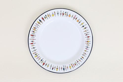 Flat Salad Plate - Buoys, Knots or Sailboats - Fishs Eddy - 6 Pieces