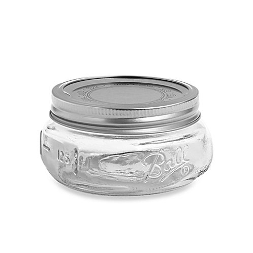Ball Elite Half Pint Wide Mouth Mason Jars - 4 Piece Box