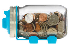Jarware Mason Jar Piggy Bank
