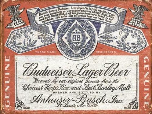 Budweiser Historic Label