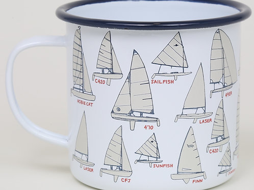 16 oz. Mug - Buoys, Knots or Sailboats - Fishs Eddy - 6 Pieces