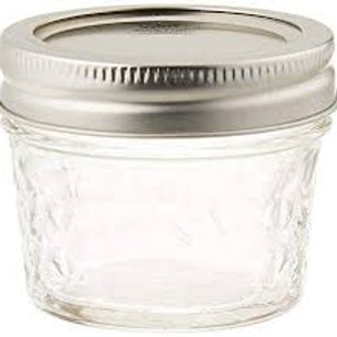 Ball 4 Ounce Quilted Regular Mouth Mason Jars - 12 Piece Box