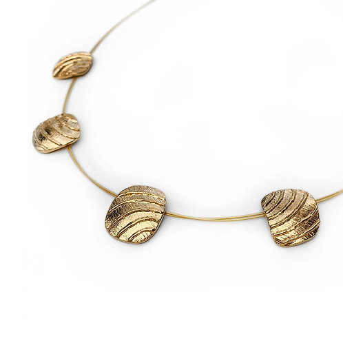 Necklace Golden Waves | Gold Plated Sterling Silver 925°