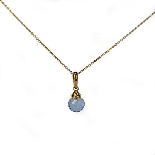 IRIΔA DROPS Necklace | Citrine Sky light blue Gold K18