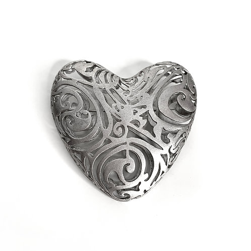 Heart Βrooch Kentimata | Sterling Silver 925°