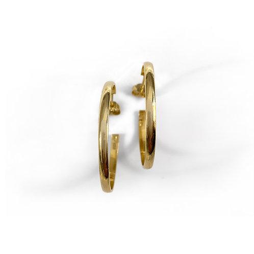 Σκουλαρίκια 3.3 Hoops | Επιχρυσωμένο Ασήμι 925°