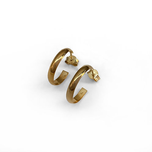 Hoops 1.6 Earrings | Gold Plated Sterling Silver 925°