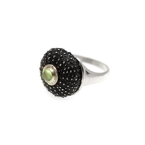 Sea Urchin Ring | Silver 925° Oxidised Finish