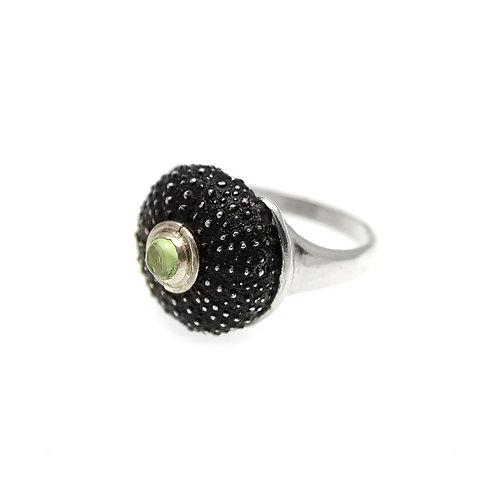 Δαχτυλίδι Sea Urchin | Ασημί 925 ° Οξειδωμένο φινίρισμα