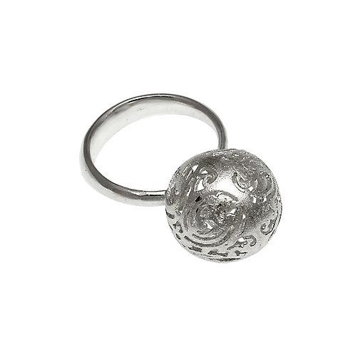 Δαχτυλίδι Ball Κεντήματα | Ασήμι 925°