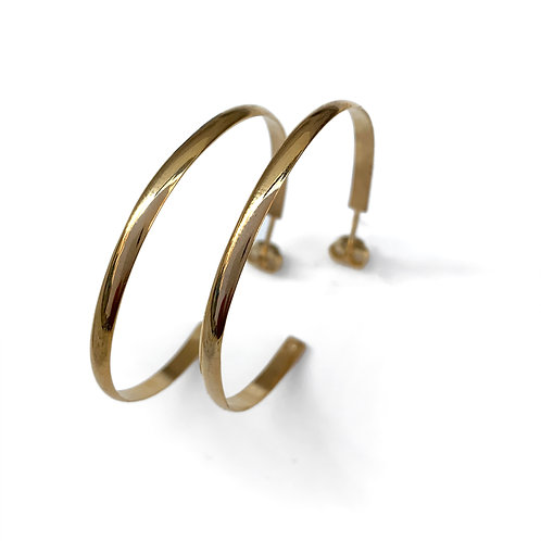 Hoops 4.4 Earrings | Gold Plated Sterling Silver 925°