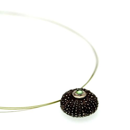 Sea Urchin Necklace | Silver 925° Oxidised Finish