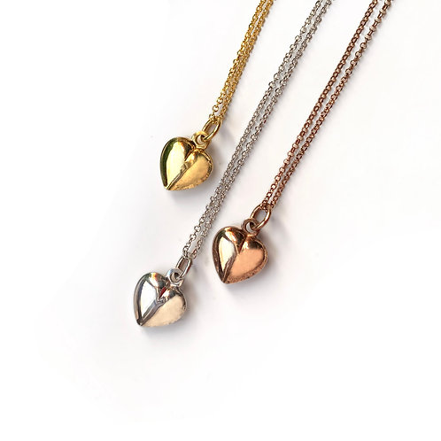 Bump Heart Necklace | Silver 925°
