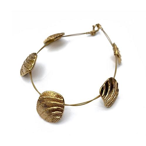 Bracelet Golden Waves   Gold Plated Sterling Silver 925°