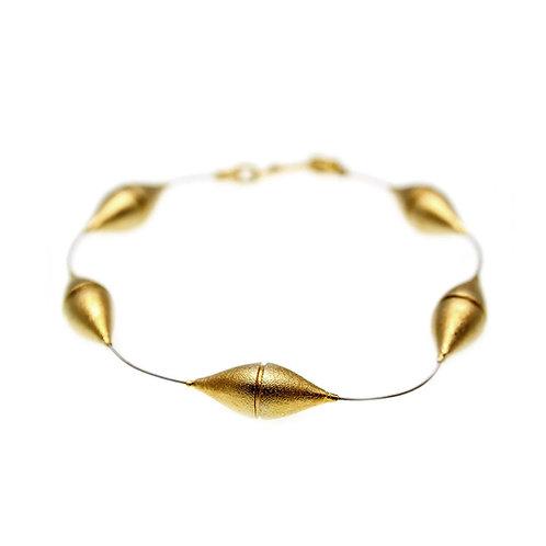 Bracelet Barrel | Gold Plated Silver 925°