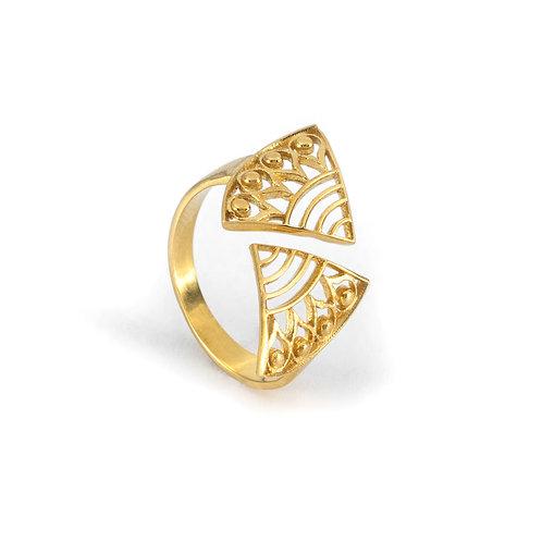 Δαχτυλίδι Hera's Strength | Επιχρυσωμένο ασήμι 925°