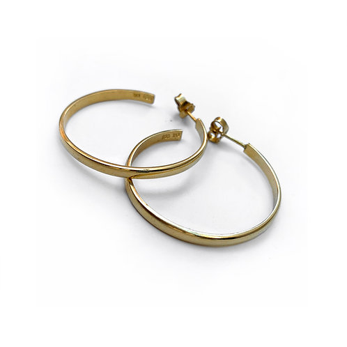 Hoops 5 Earrings | Gold Plated Sterling Silver 925°