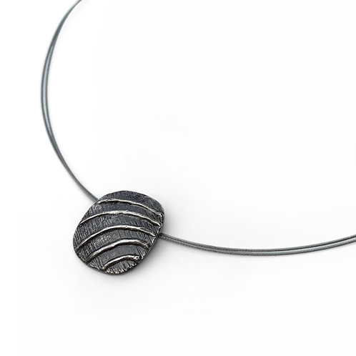 Necklace Waves | Sterling Silver 925° Oxidised Finish