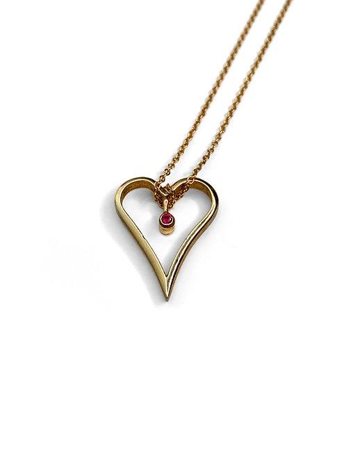 Line Heart Pendant | Silver 925°
