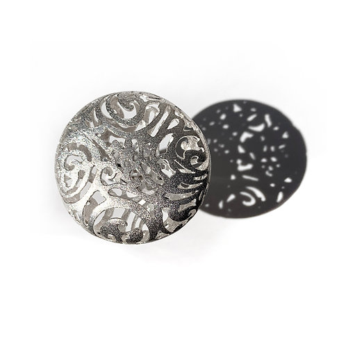 Δαχτυλίδι Round Κεντήματα | Ασήμι 925°