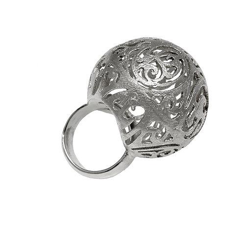 Large Ball Ring Kentimata | Sterling Silver 925°