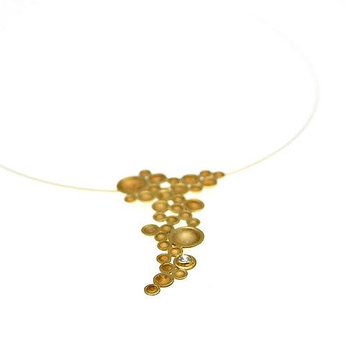 Κολιέ Grapevine | Χρυσός Κ14 - Ζιρκόν
