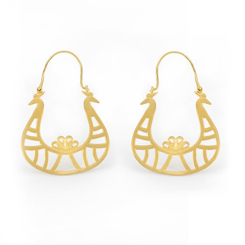 Diadem Earrings | Gold Plated Sterling Silver 925°