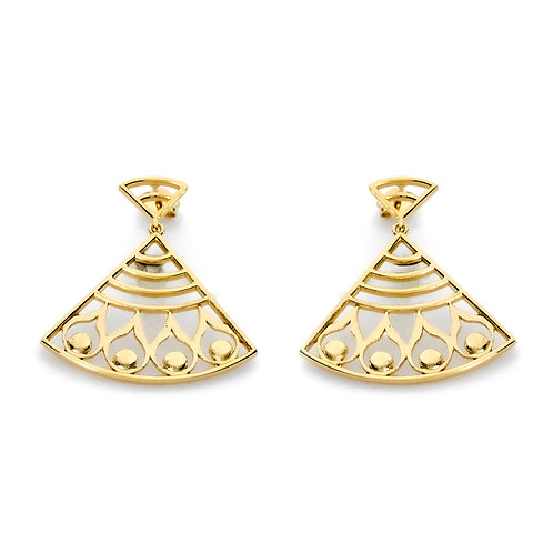 Hera's Strength Earrings | Gold Plated Sterling Silver 925°