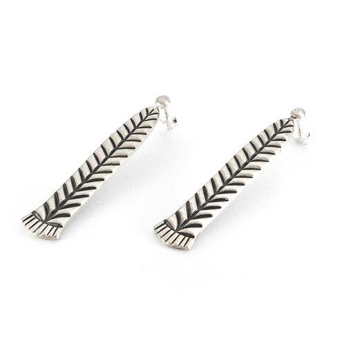 Braid Drops Earrings | Oxidised Sterling Silver 925°