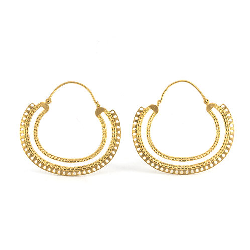 Braid Earrings | Gold Plated Sterling Silver 925°