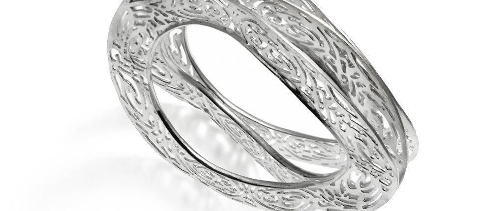 Triple sliced Bracelet Kentimata | Sterling Silver 925°