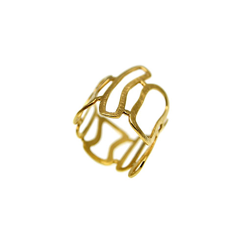 Ring Frames | Gold Plated Gold 14K