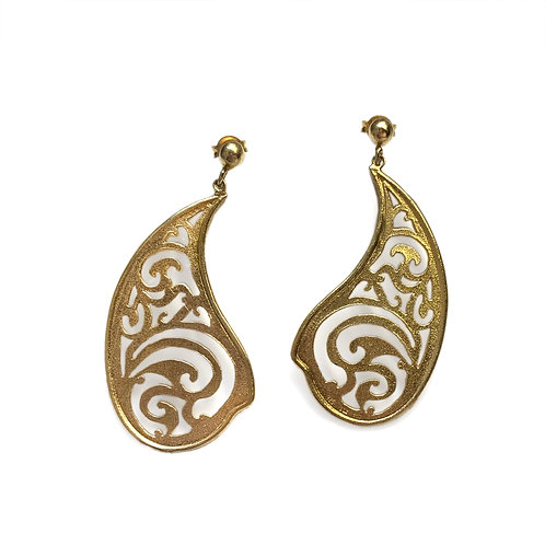 Paisley Earrings Kentimata | Gold Plated Sterling Silver 925°