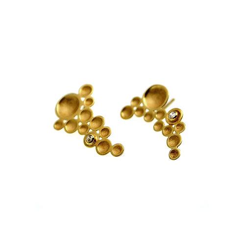 Grapevine Earrings | Gold K14
