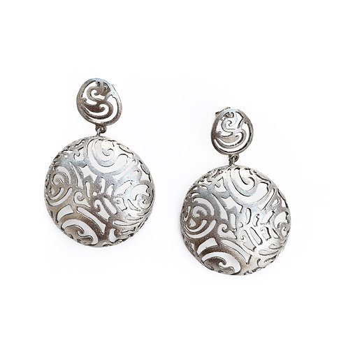 Earrings Half Small Round Kentimata | Sterling Silver 925°