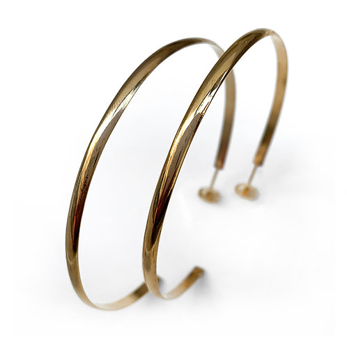 Hoops 6.5 Earrings | Gold Plated Sterling Silver 925°