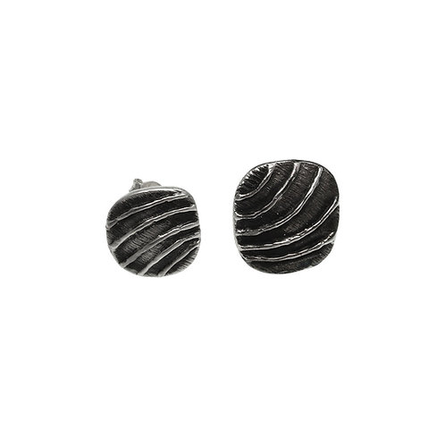 Earrings Waves | Sterling Silver 925° Oxidised Finish