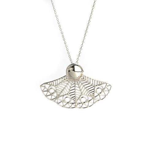 Delicate Wing Necklace   Sterling Silver 925°