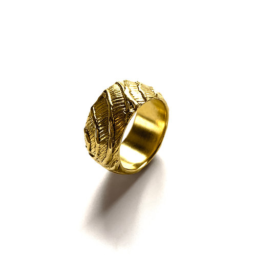 Ring Waves | Gold Plated Silver 925°